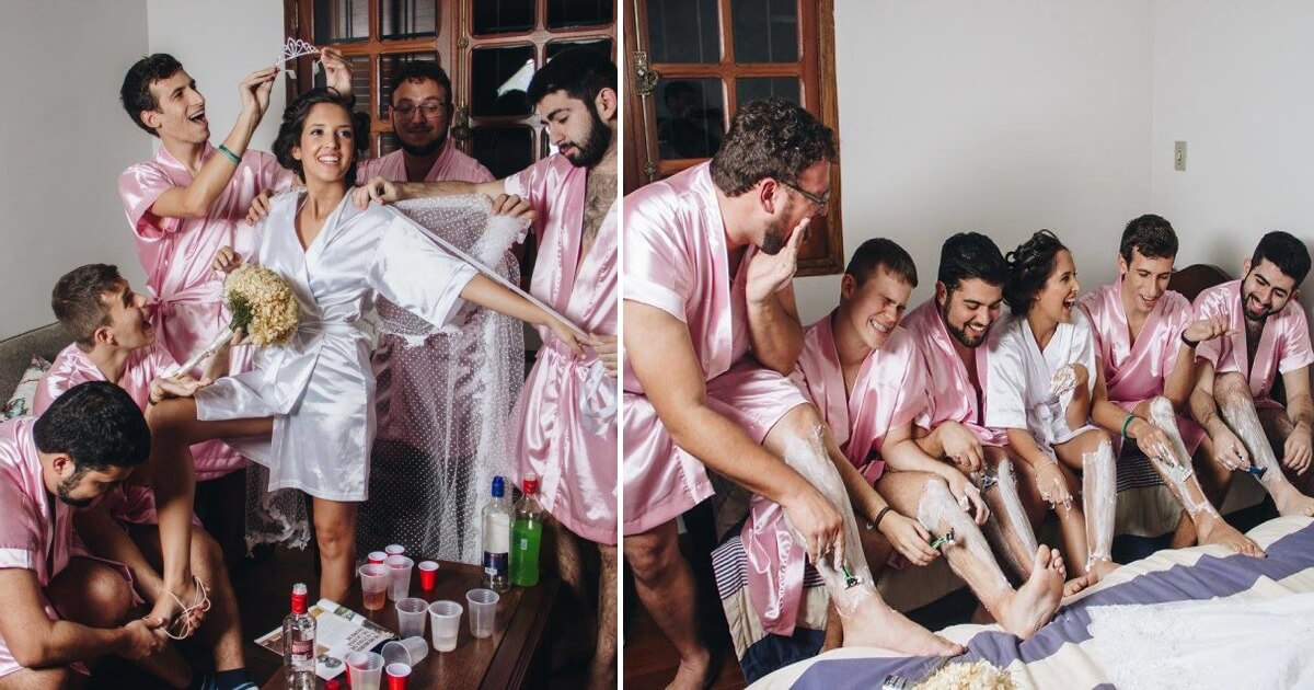 This Computer Engineer Did Not Have Any Girlfriends, So She Invited Her Bros To Her Bridal Photoshoot (Pictures)