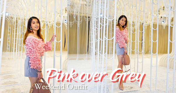 Pink over Grey Weekend Outfit #SharonOOTD