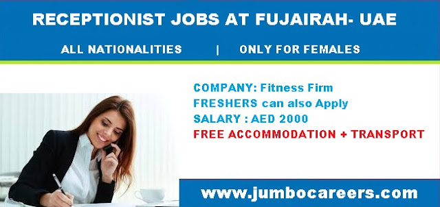 Female Receptionist Jobs in Fujairah