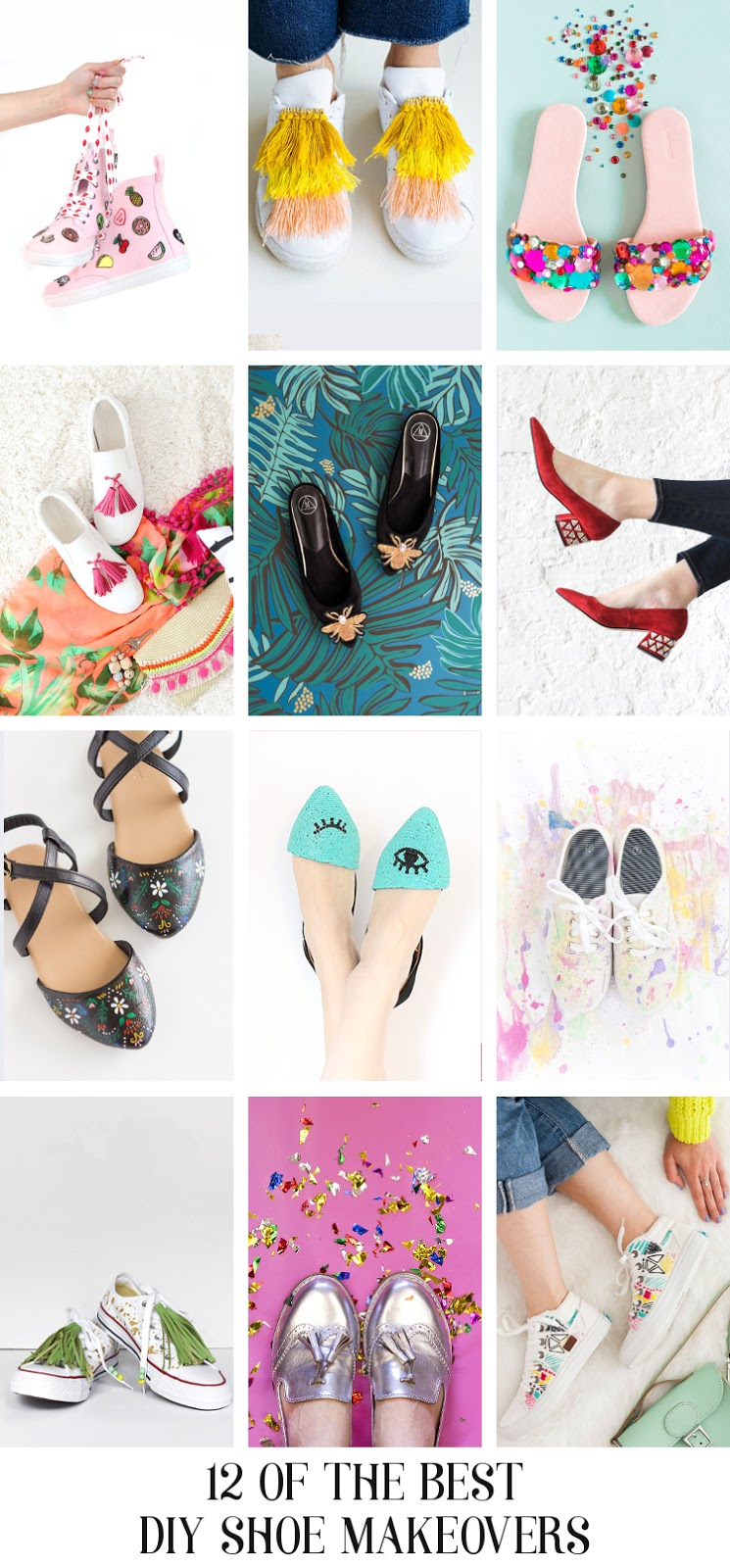 12 OF THE BEST DIY SHOES MAKEOVERS.