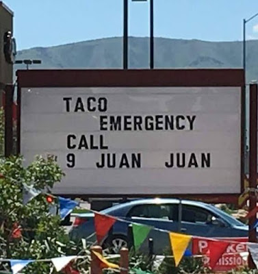 funny taco emergency sign picture