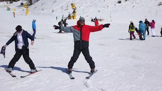 Aula de esqui na neve no Cerro Catedral em Bariloche