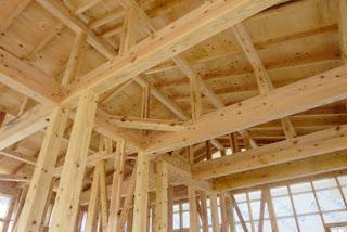 gỗ ghép làm xà nhà cột nhà