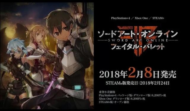 Sword Art Online: Fatal Bullet got its fourth trailer
