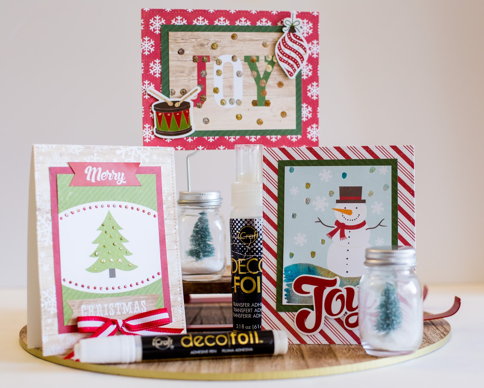 My Cluttered Corner: Two Ways to Apply Foil to Christmas Cards