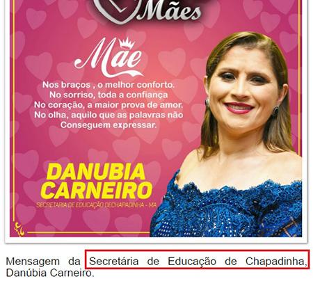 Danúbia Carneiro continua na Secretaria de Educação de Chapadinha