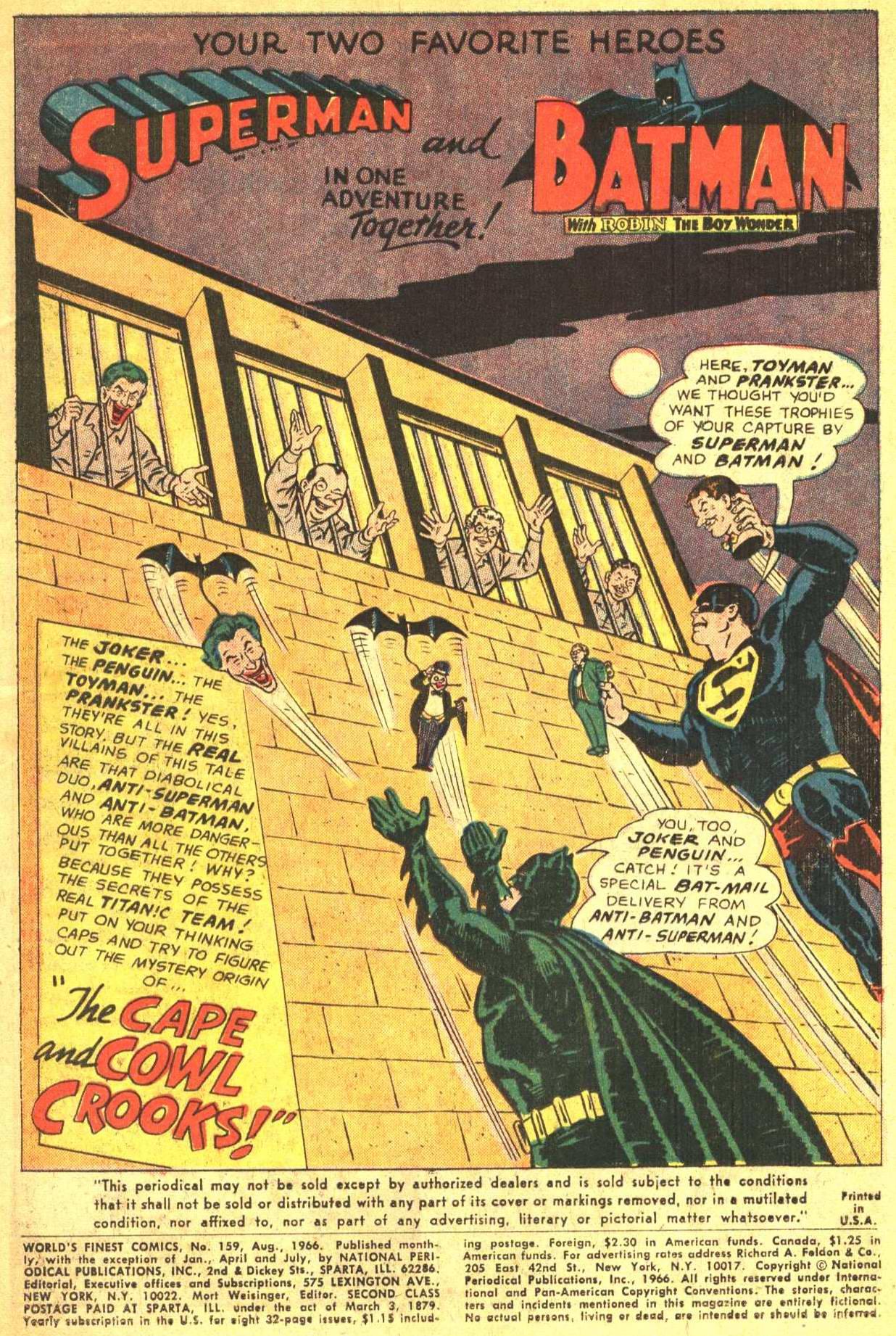 Read online World's Finest Comics comic -  Issue #159 - 3