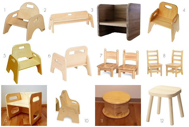 Montessori friendly baby and toddler chair options. These chairs are the perfect additions to a Montessori home.