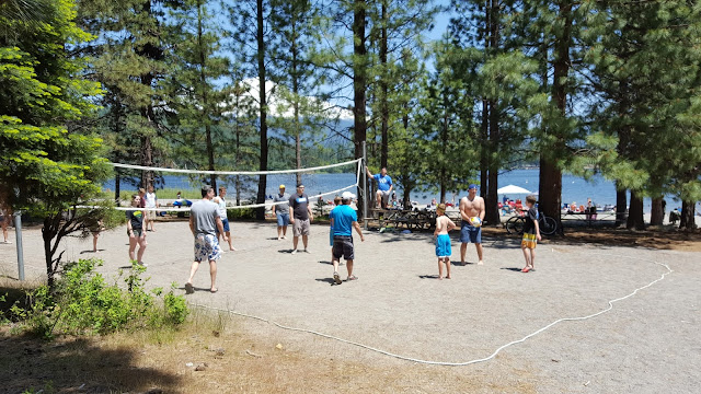 Sand Volley Ball Court at Lake Siskiyou, Mt. Shasta, CA www.wayupnorthincali.blogspot.com