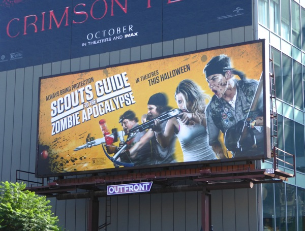 Scouts Guide Zombie Apocalypse movie billboard