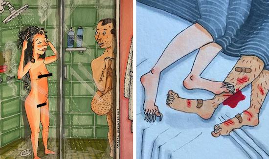 22+ Ilustrações brutalmente honestas que revelam o lado oculto dos relacionamentos longos