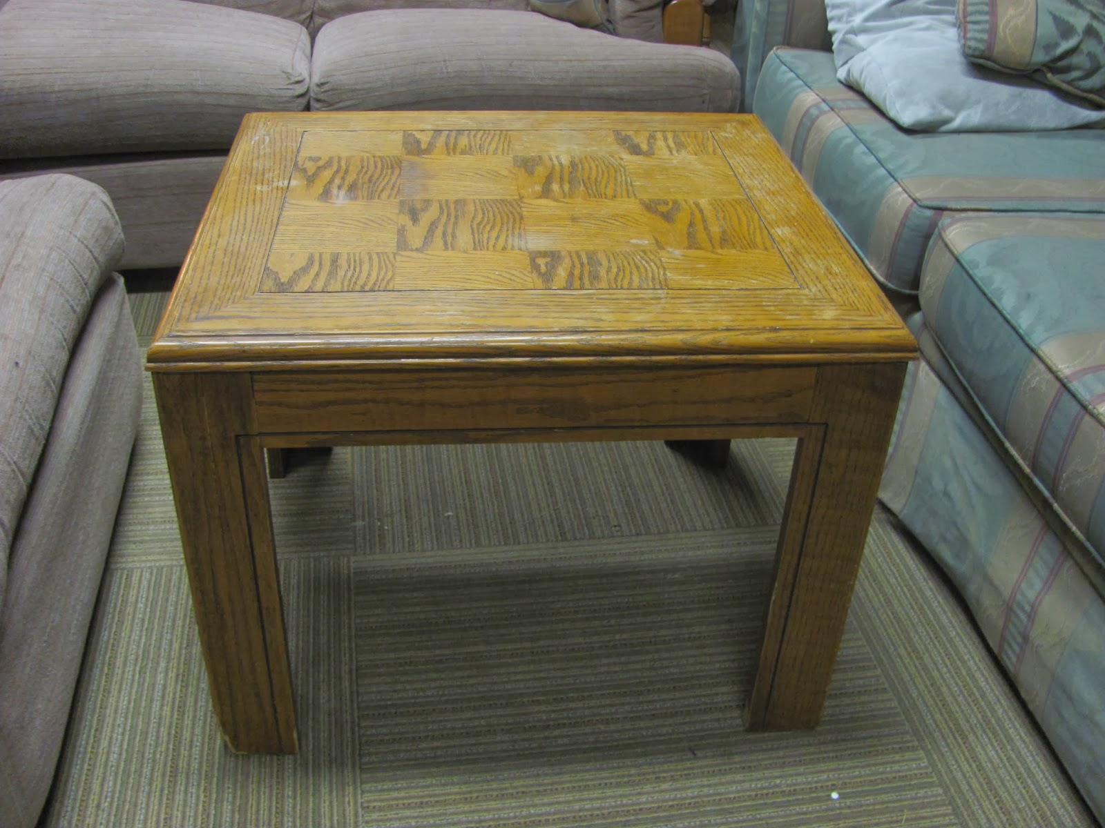 Love This Table That Sits Between Several Couches Chairs Can Easily Be Moved And A Great Tabletop To Type Something Up While Still Comfy