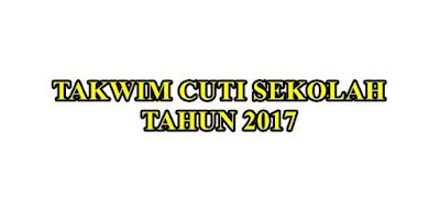Takwim Persekolahan Tahun 2017