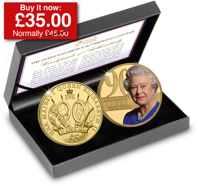 Queen Elizabeth II 90th Birthday Coin