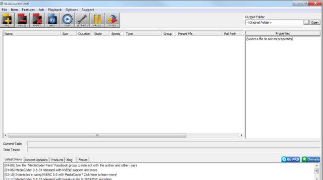 تحميل برنامج تحويل الفيديو مجانا MediaCoder Web Video