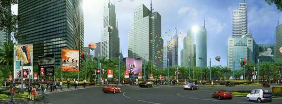 Rencana Pusat Bisnis Kota Harapan Indah