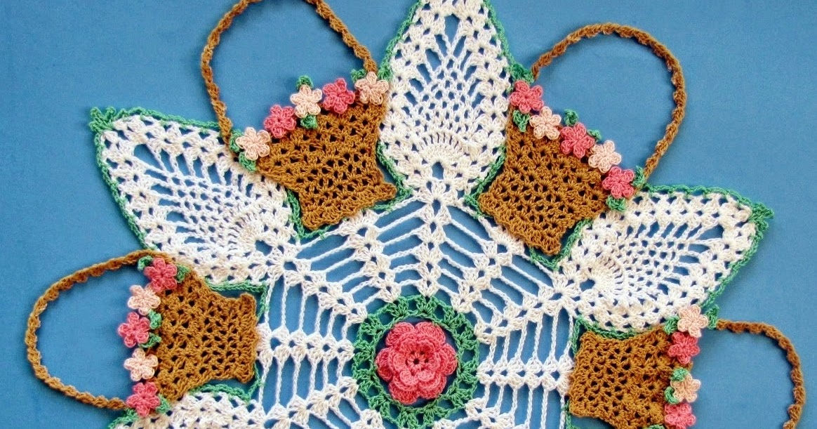 May Baskets and Pineapples; A Free Crochet Pattern for You