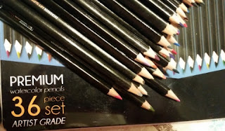 evergreen art supply 36 premium colored pencil set
