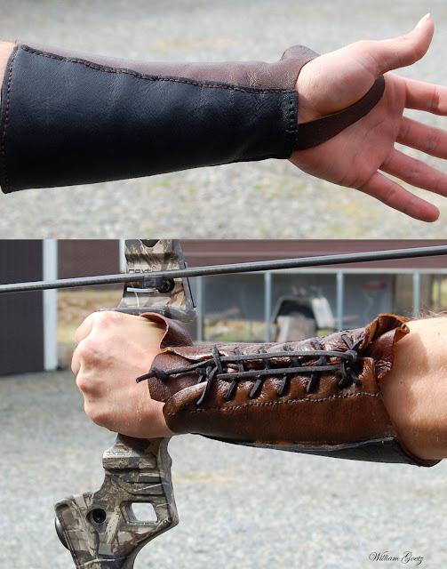 Archery Leather Arm Guard Bracer
