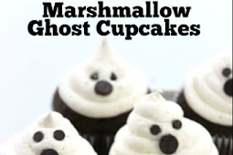 Marshmallow Ghost Cupcakes For Perfect Halloween Party