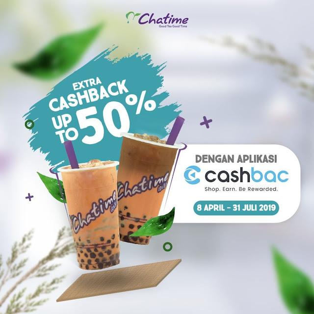 #Chatime - #Promo Extra Cashback Up To 50% Pakai CASHBAC (s.d 31 Juli 2019)