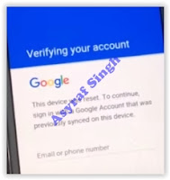 verifying Samsung Galaxy J2 2016 google account