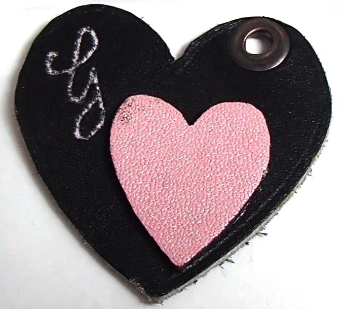 Porte clé coeur avec initial