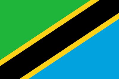Logo Gambar Bendera Negara Tanzania PNG JPG ukuran 400 px