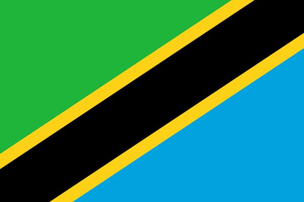 Logo Gambar Bendera Negara Tanzania PNG JPG ukuran 600 px