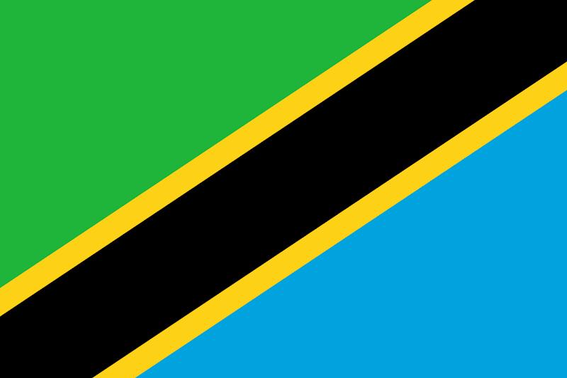 Logo Gambar Bendera Negara Tanzania PNG JPG ukuran 800 px
