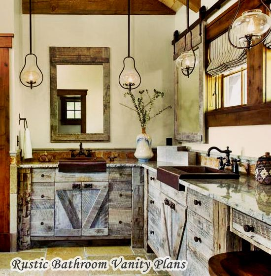 Traditional Rustic Bathroom Vanity Plans
