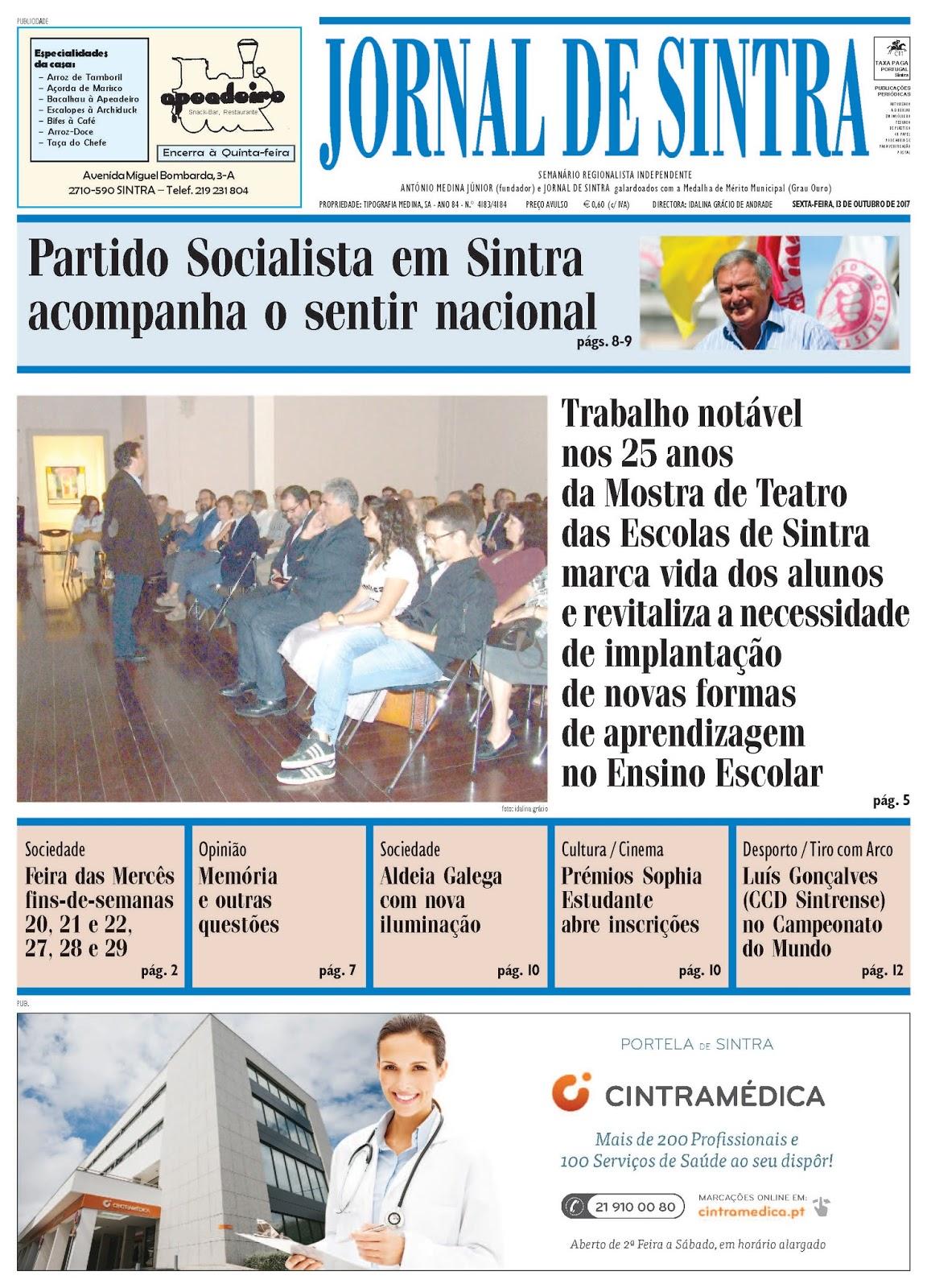 Capa da edição de 13-10-2017