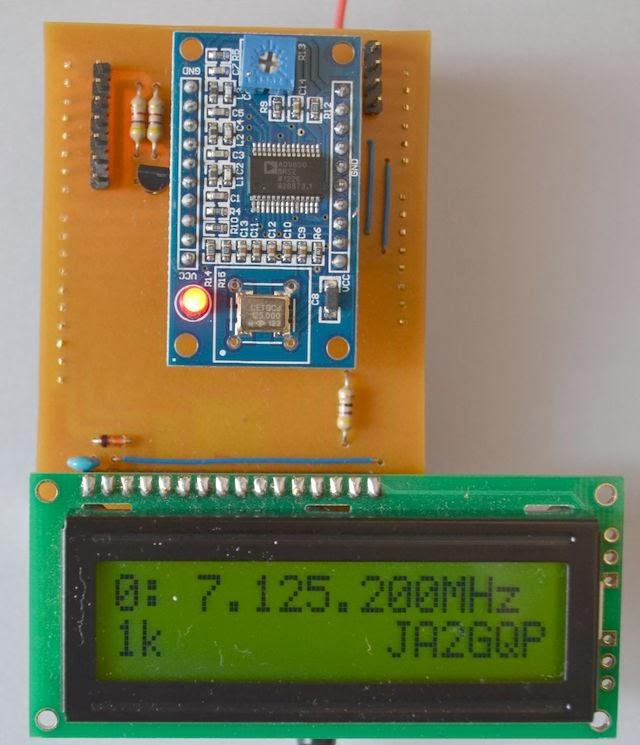 JA2GQP's Blog: Arduino AD9850 DDS VFO