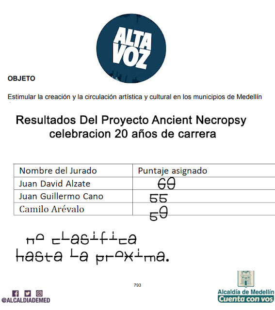 ancient necropsy veredict by Medellin Culture judges