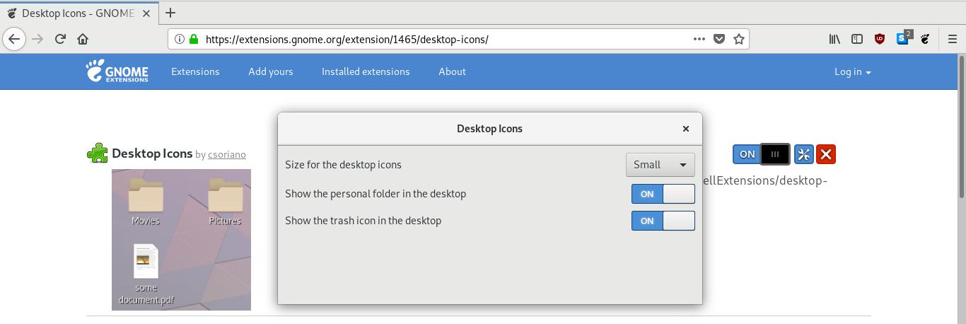 Bring Back Desktop Icons on GNOME 3 30