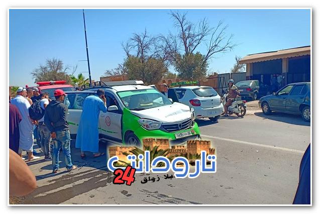 تارودانت: حادثة سير خطيرة..اصطدام قوي بين سيارة أجرة وسيارة خفيفة (صور)