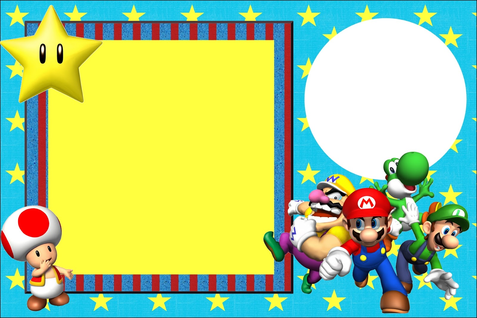 Super Mario Bros Free Printable Invitations Oh My Fiesta in english