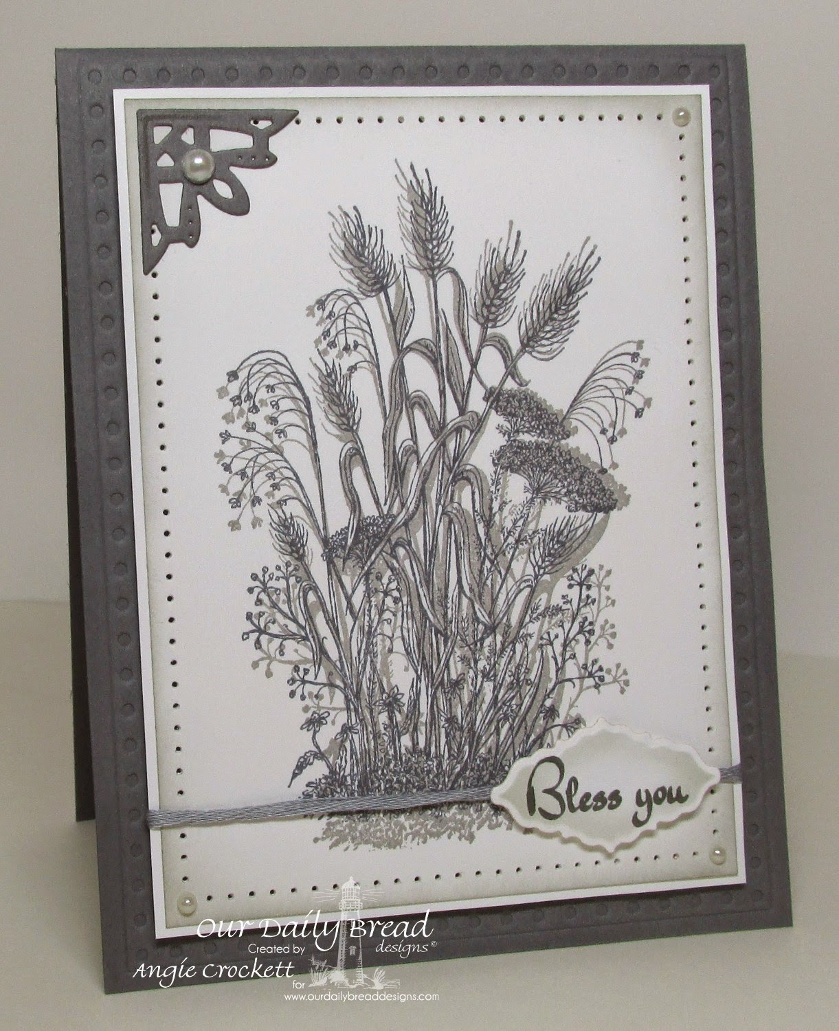 ODBD Miss You, ODBD Life is a Gift, ODBD Custom Faithful Fish Pattern Die and Debossing Plate, ODBD Custom Ornate Borders and Flower Dies, Card Designer Angie Crockett