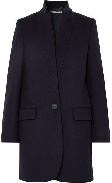 Stella McCartney - Bryce Melton Wool-blend Coat - Midnight blue