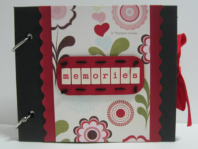 mini álbum memories scrapbook