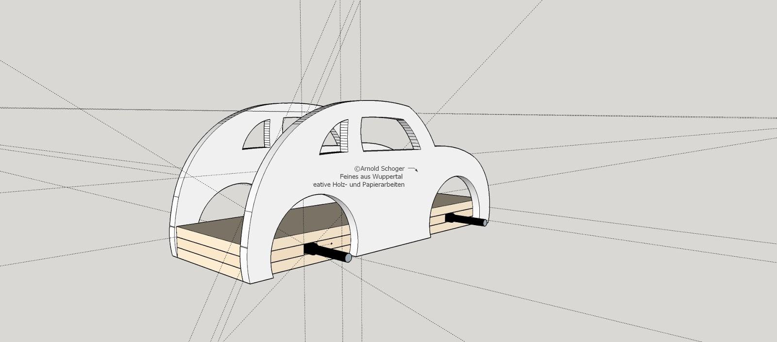 Bauanleitung zum Basteln eines einfachen Autos | Feines aus Wuppertal