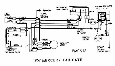 mercury colony park tailgate 1957 rear window wiring