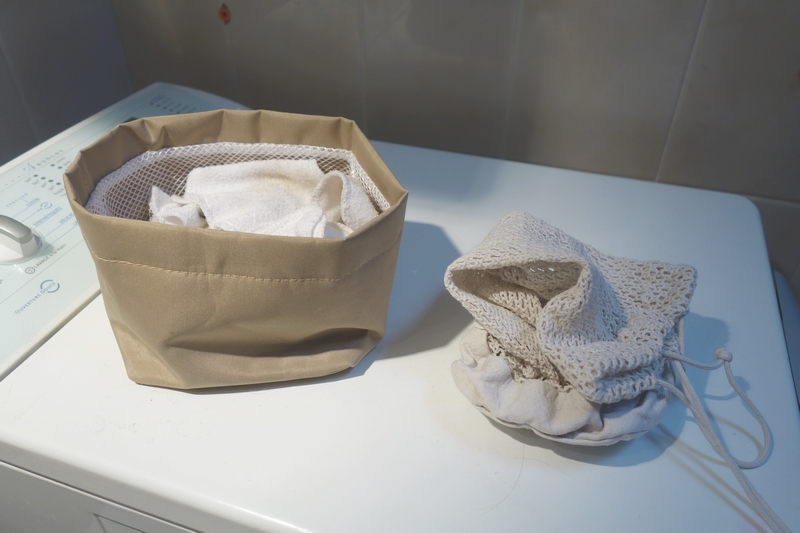 BEAUTE : Les Carrés lavables des Tendances d'Emma, le lavage / www.by-laura.fr