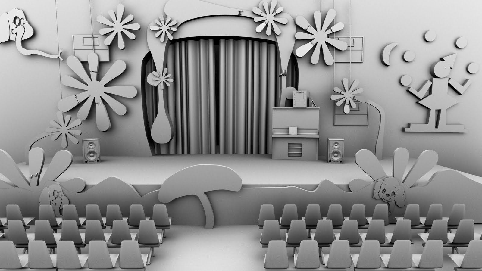 Sonu Deol's 3D Art World: Background Design For Animated Movie
