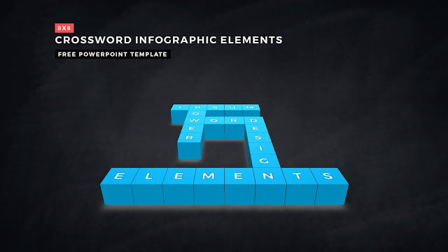Crossword Puzzles Infographic Elements for PowerPoint Templates with Dark Background Slide 12