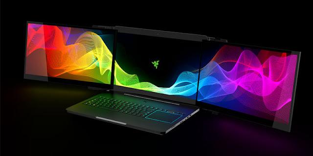 Razer Merilis Laptop Gaming Canggih dengan 3 Layar Pertama di Dunia