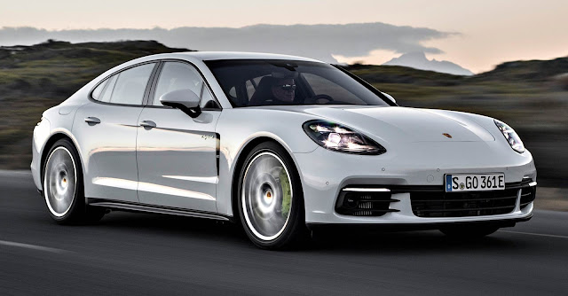 Porsche Panamera 4 E-Hybrid 2018 frente blanco