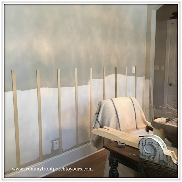 French Country Farmhouse Dining Room-Board and Batten-Wainscoting-From My Front Porch To Yours