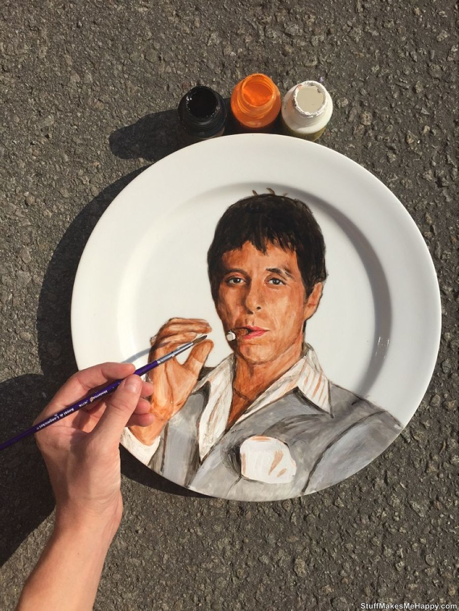 Who's The Dish? The Artist Jacqueline Poirier Draws Celebrities on Plates